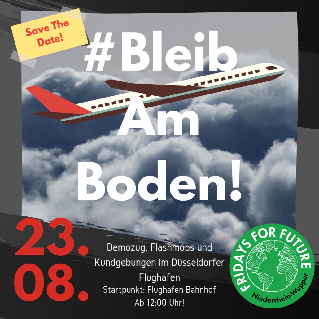 Demo am Flughafen Fridays for Future – #Bleib am Boden @ Flughafen Düsseldorf